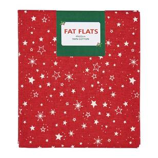 Scandi Christmas Starburst Flat Fats Fabric