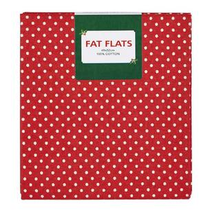 Scandi Christmas Dots Flat Fats Fabric