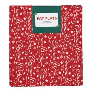 Scandi Christmas Xmas Wishes Flat Fats Fabric