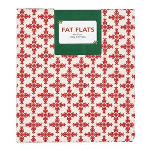 Scandi Christmas Tile Flat Fats Fabric