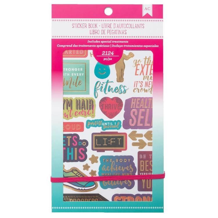 American Crafts Fitness Sticker Book