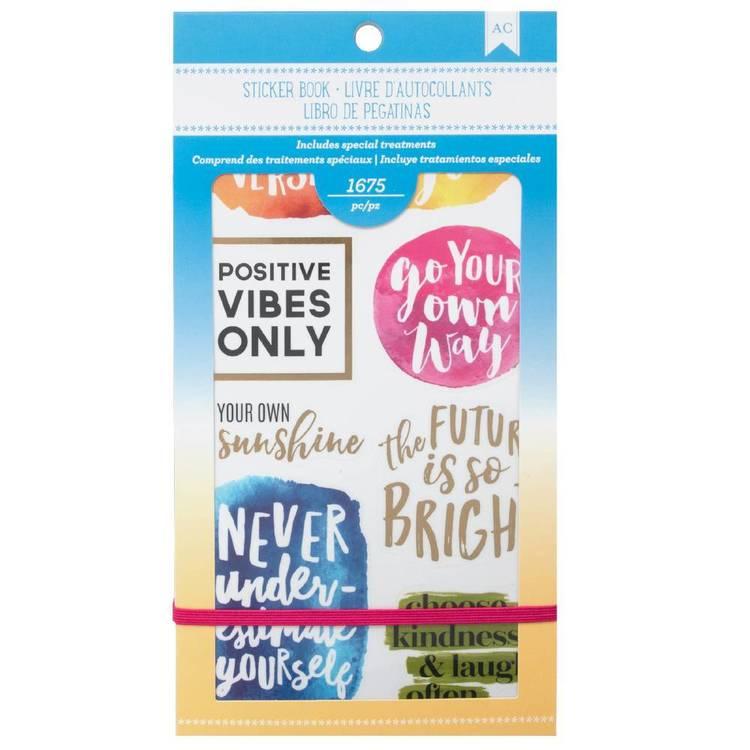 American Crafts Inspirational Life Sticker Book