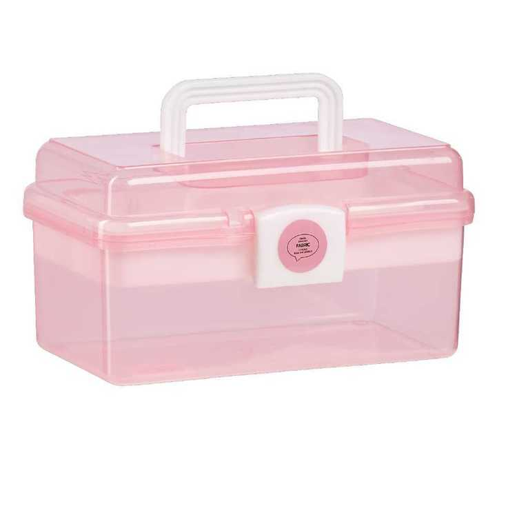 Supa Satchel Plastic Storage Small Pink - Everyday Bargain