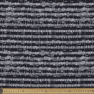 Mix Monotones Music 3 Cotton Fabric