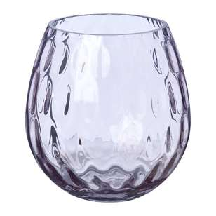 Living Space Dimple Glass Vase