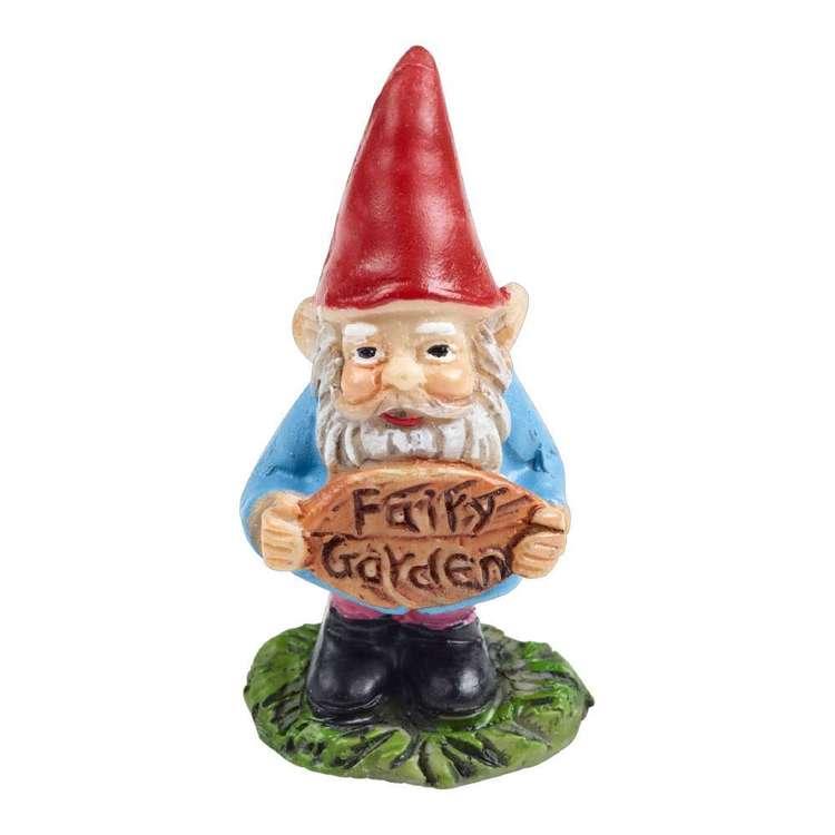 Fairy Village Mini Garden Gnome Sign Figurine