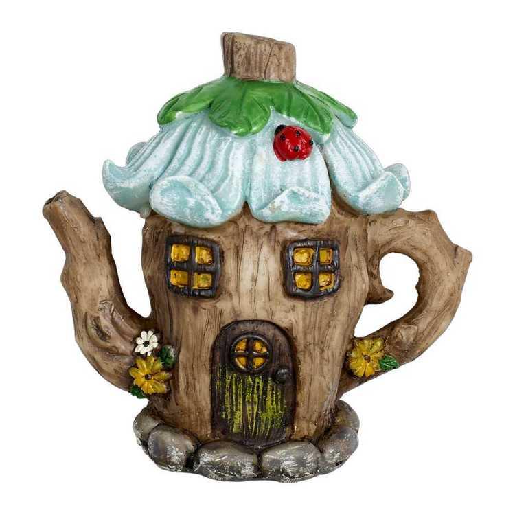 Fairy Village Mini Garden Tea House Figurine