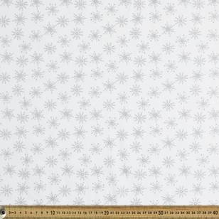 Metallic Christmas Snowflake Fabric