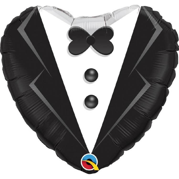Qualatex Wedding Tuxedo Heart Foil Balloon
