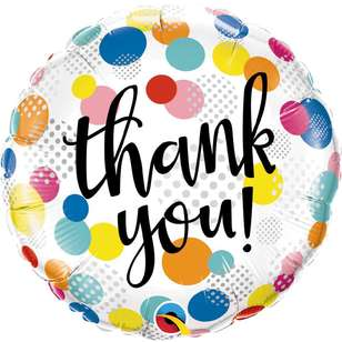 Qualatex Thank You Dots Foil Balloon