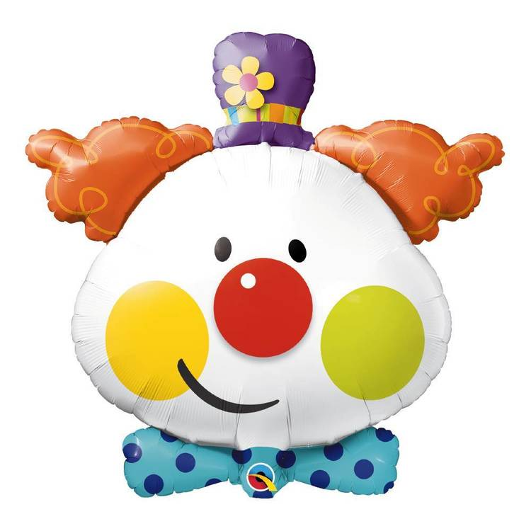 Qualatex Cute Clown Foil Balloon