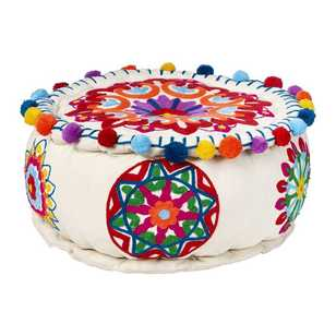 Living Space Havana Embroidered Ottoman