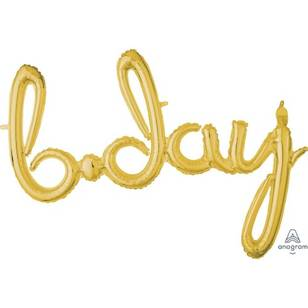 Amscan Anagram Birthday Script Gold Foil Balloon