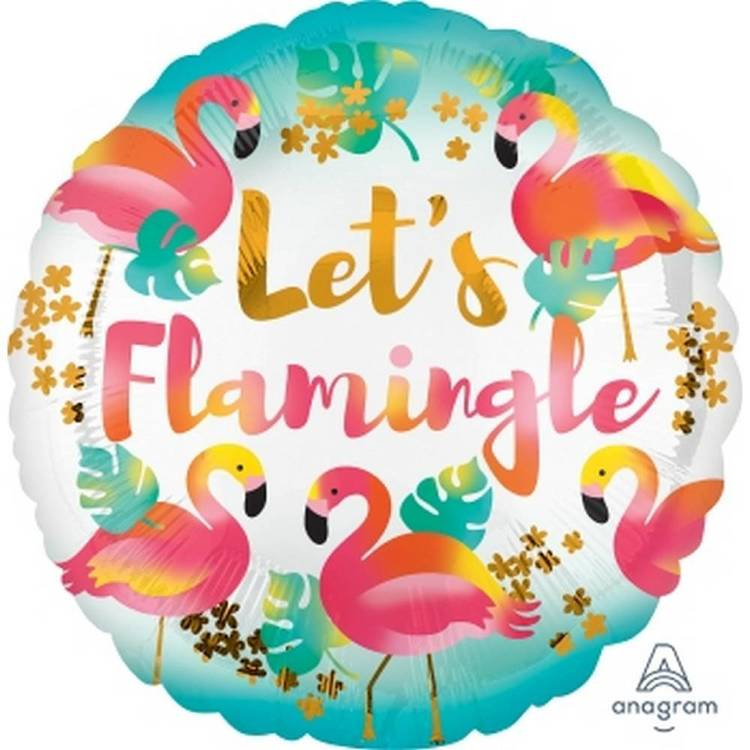 Amscan Anagram Let's Flamingle Foil Balloon