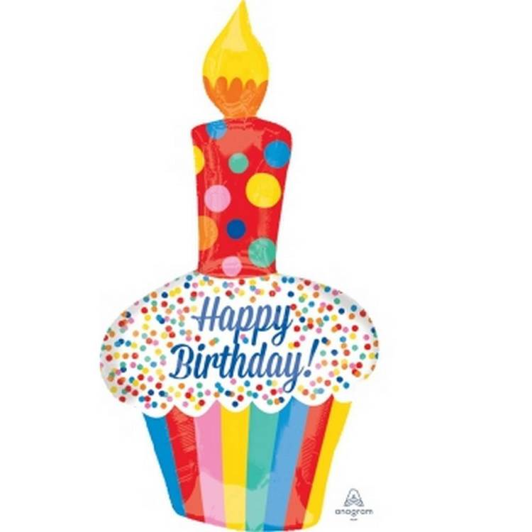 Amscan Anagram Bright Birthday Cake Foil Balloon