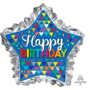 Amscan Anagram Happy Birthday Star Foil Balloon