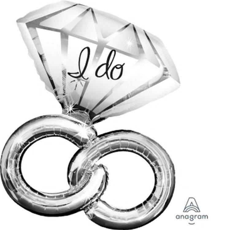 Amscan Anagram Wedding Rings Foil Balloon