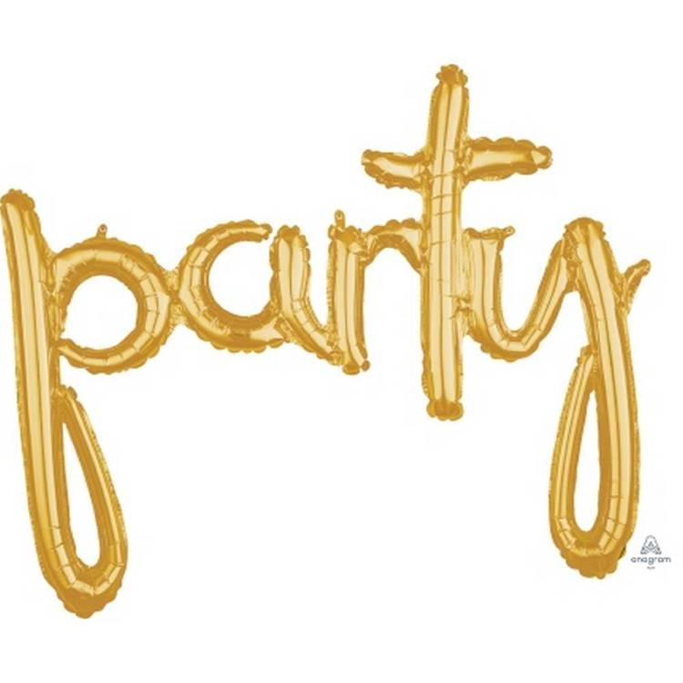Amscan Anagram Party Script Gold Foil Balloon