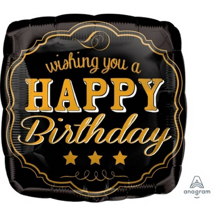 Amscan Anagram Vintage Birthday Square Foil Balloon