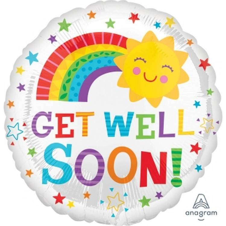 Amscan Anagram Get Well Soon Foil Balloon