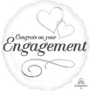Amscan Anagram Engagement Foil Balloon