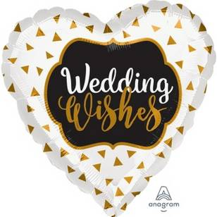 Amscan Anagram Wedding Wishes Heart Foil Balloon