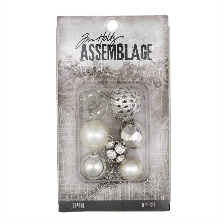 Tim Holtz Charms Bauble Mix  Silver