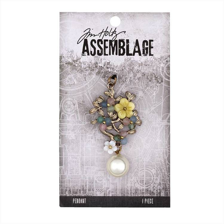Tim Holtz Pendant Jeweled Bouquet  Silver & Multicoloured