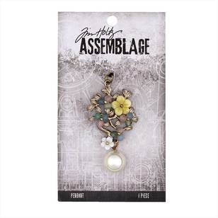 Tim Holtz Pendant Jeweled Bouquet