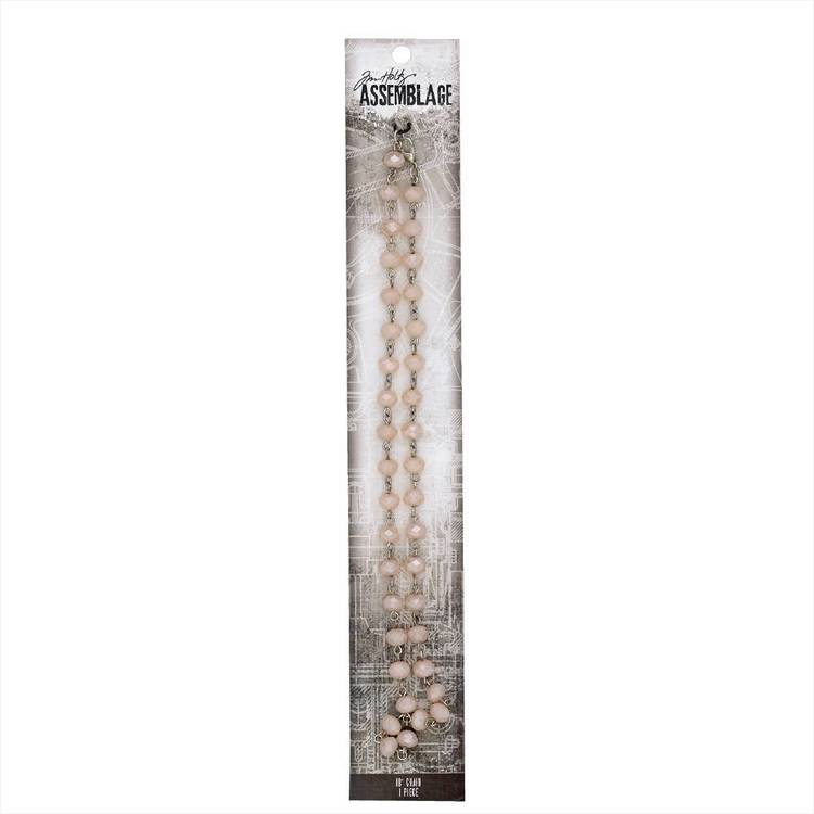 Tim Holtz Pink Rosary Chain