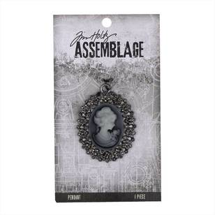 Tim Holtz Pendant Crystal Cameo