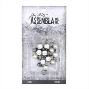 Tim Holtz Charms Diamonds Pearls