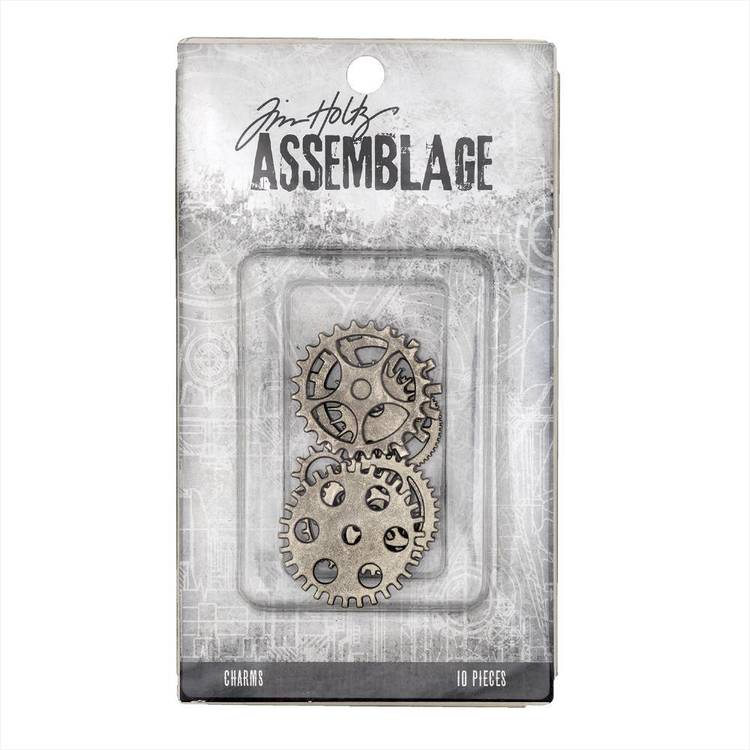Tim Holtz Charms Gears And Cogs  Antiqued Silver