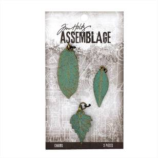 Tim Holtz Charms Patina Leaves
