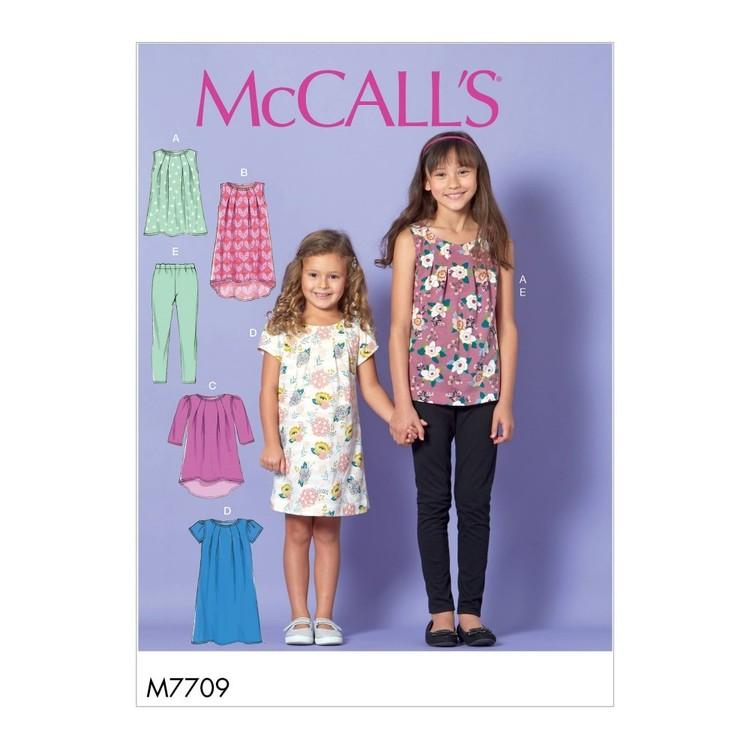 McCall's Pattern M7709 Children's/Girls' Tops