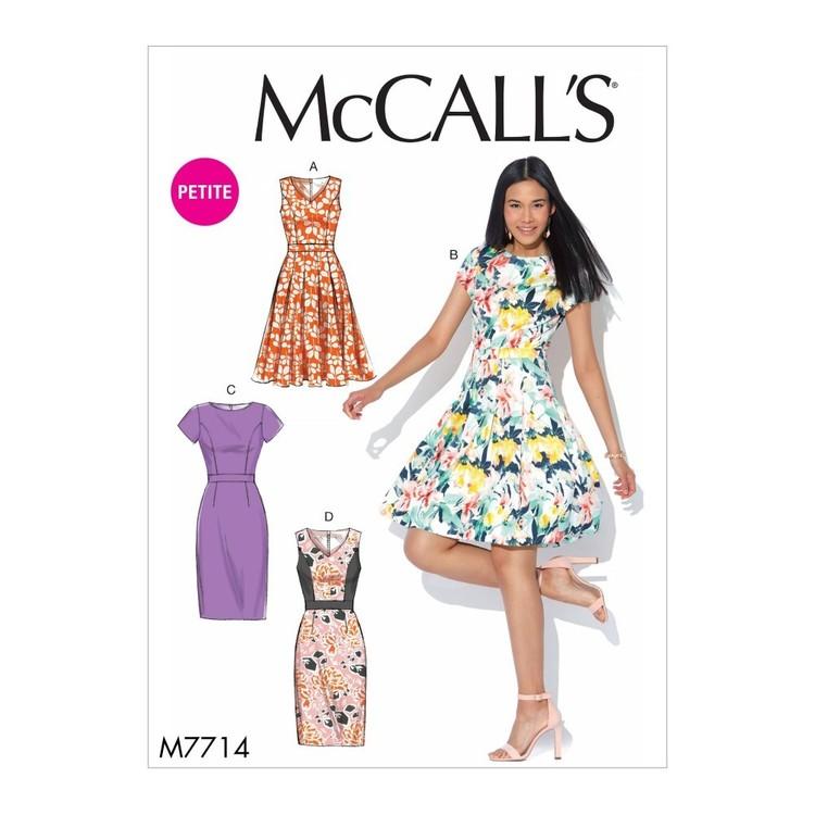 McCall's Pattern M7714 Misses'/Miss Petite Dresses