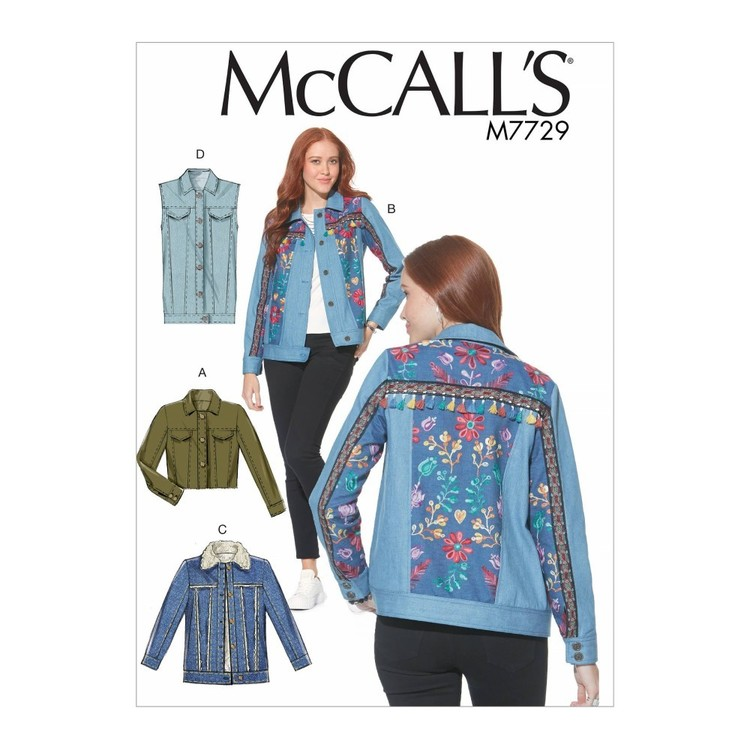 McCall's Pattern M7729 Misses' Jackets and Vest