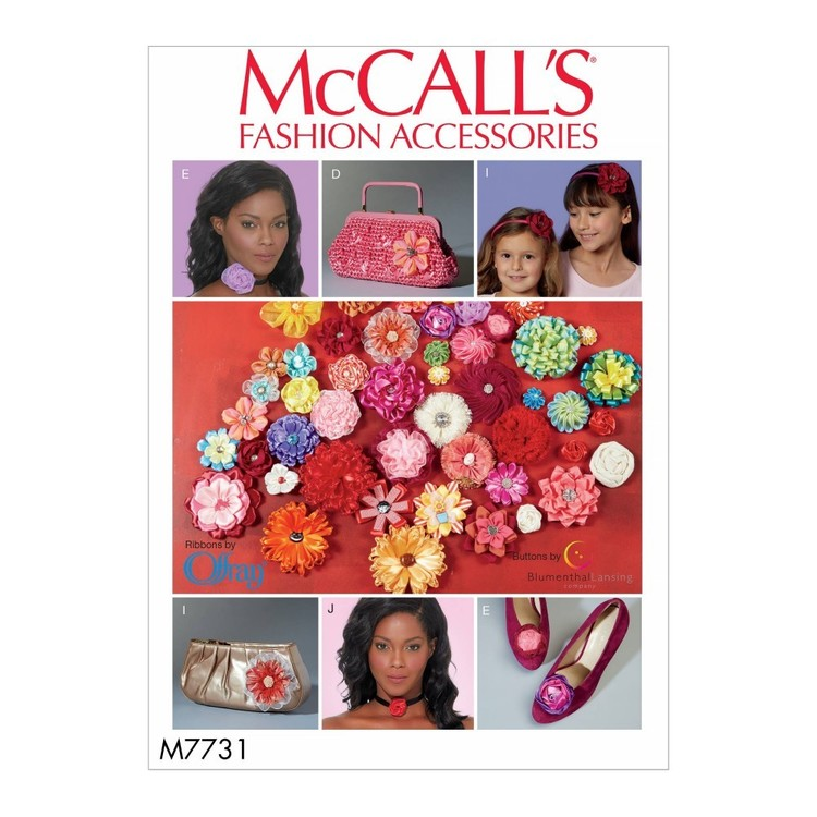 McCall's Pattern M7731 Ribbon Flowers
