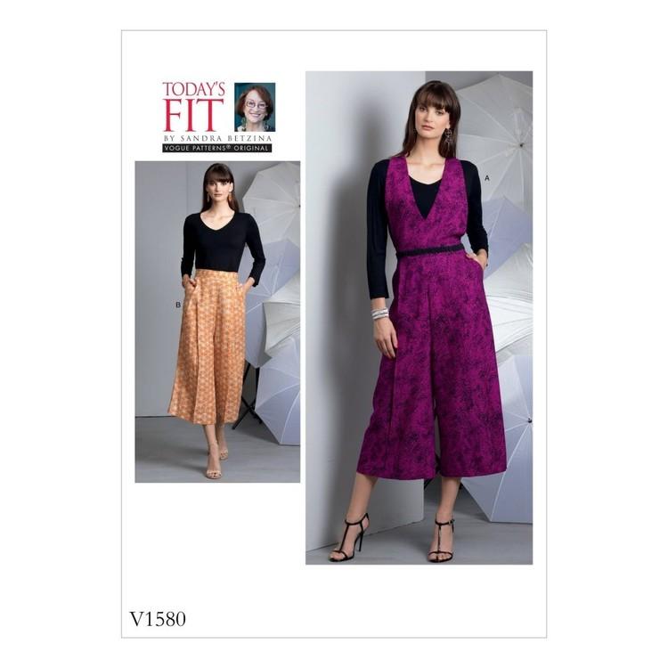 Vogue Pattern V1580 Misses Pants