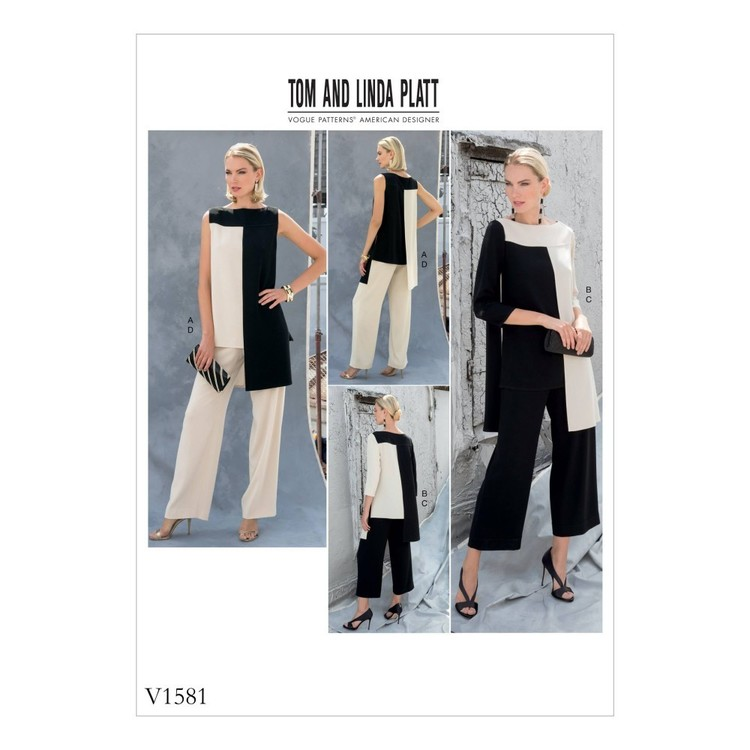 Vogue Pattern V1581 Misses Tunic And Pants