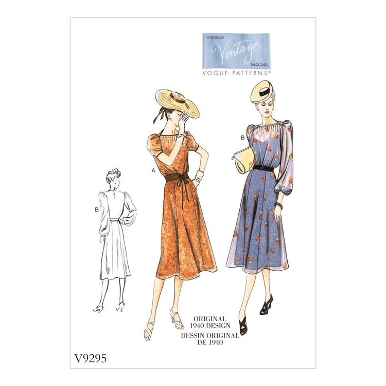 Vogue Pattern V9295 Misses Vintage Dress