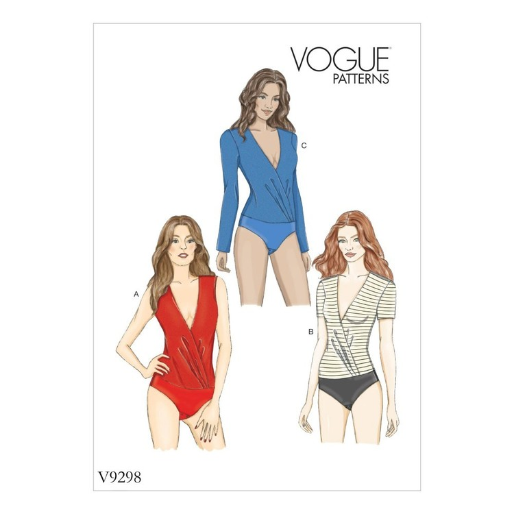 Vogue Pattern V9298 Misses Bodysuit