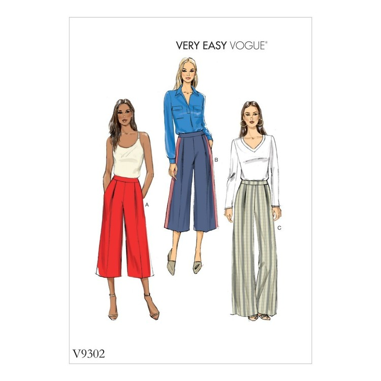 Vogue Pattern V9302 Misses Pants