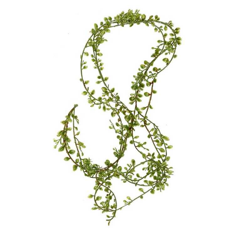Green Stems Mini Leaves Garland