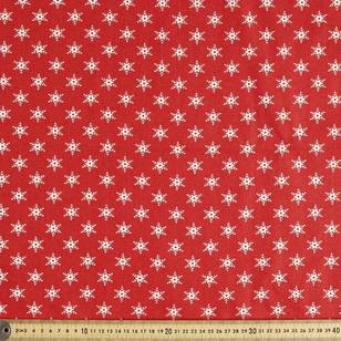 Scandi Christmas Snowflake Quilting Fabric