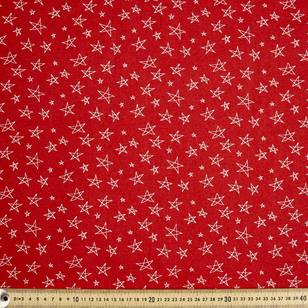 Scandi Christmas Hand Drawn Stars Quilting Fabric