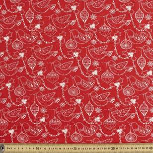 Scandi Christmas Robin Quilting Fabric