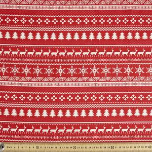 Scandi Christmas Stripe Quilting Fabric