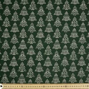 Scandi Christmas Nordic Trees Quilting Fabric