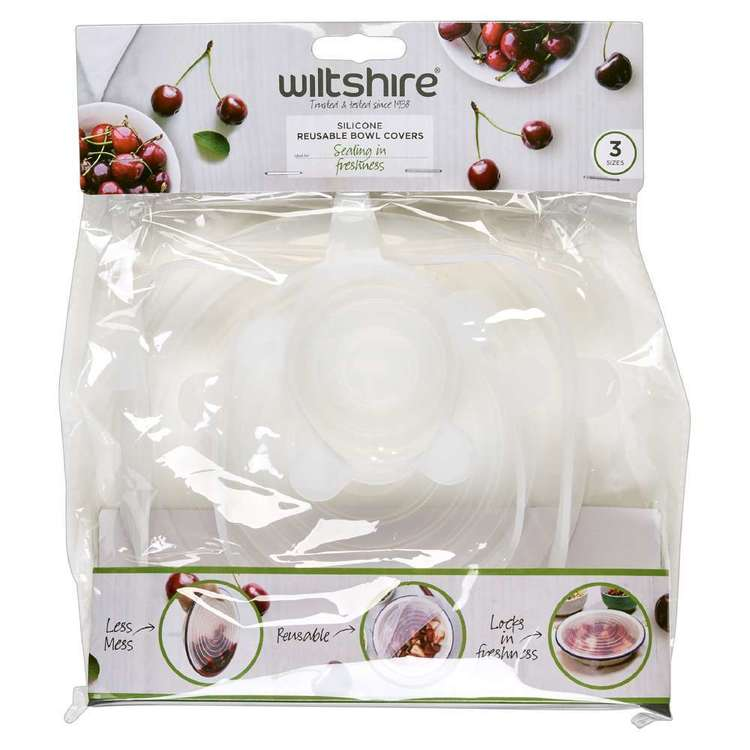 Wiltshire 3 Piece Silicone Bowl Cover Clear